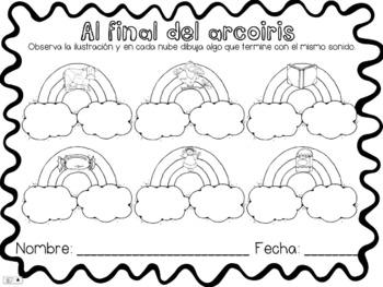 Al Final Del Arcoiris {Ending Sounds in Spanish}
