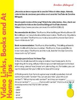 Al Tambor- Spanish Nursery Rhyme and Activities
