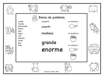 Al Zoo Spanish Printable Minibook and Activity Pack