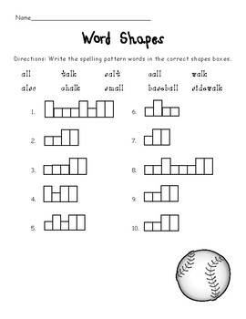 Al and All say aw/short O Worksheets (Bossy L)