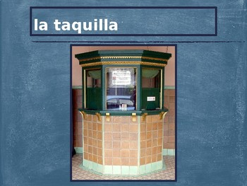 Al cine (Spanish movies) Vocabulary PowerPoint