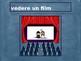 Al cinema (Italian Movies) Vocabulary PowerPoint