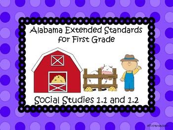 Ala Extended Standards 1st Grade Social Studies
