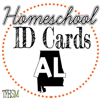 Alabama (AL) Homeschool ID Cards for Teachers and Students