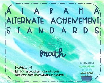 Alabama Alternate Achievement Standard Math 5.24
