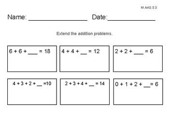 Alabama Alternate Achievement Standard Math 5.3