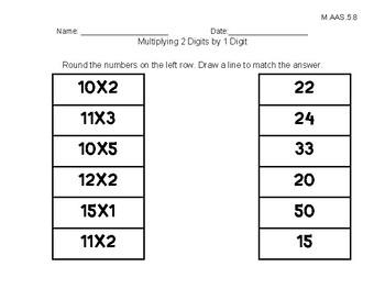 Alabama Alternate Achievement Standard Math 5.8
