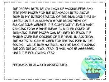 Alabama Alternate Achievement Standard Math 5.9