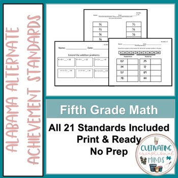 Alabama Alternate Achievement Standard Math 5 BUNDLE