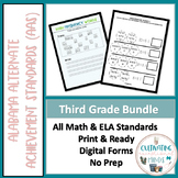 Alabama Alternate Achievement Standards Third Grade Bundle (ELA & Math)