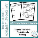 Alabama Alternate Standards- Science Fourth Grade