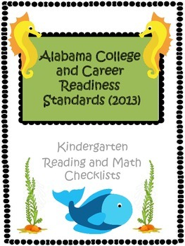 Alabama CCRS Kindergarten Checklist
