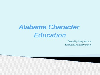 Elementary Character Education Power Point