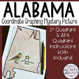 Alabama Coordinate Graphing Picture 1st Quadrant & ALL 4 Quadrants