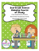 """AL Course of Study """"I Can"""" Posters Vocabulary and Skills Cards Science 2nd Grade"""