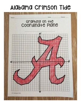 Alabama Crimson Tide (Coordinate Graphing Activity)