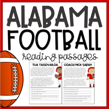 Alabama Crimson Tide Football Reading Passages and Comprehension