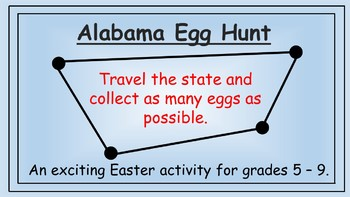 Alabama Easter Math Activity