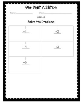 Alabama Extended Standard M.ES.3.1.3 Worksheets
