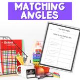 Matching Angles Worksheets
