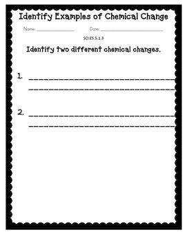 Alabama Extended Standard SCI.ES.5.1.3 Work Sheets