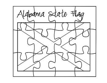 Alabama Flag Puzzle