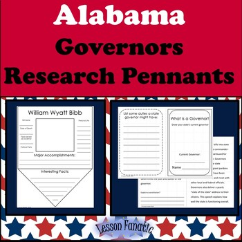 Alabama Governors Research Pennants