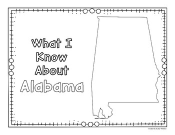 Alabama Graphic Organizers (Perfect for KWL charts and geography!)