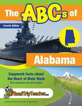 Alabama Handwriting Printables (Cursive Edition)