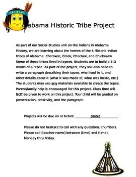 Alabama Historic Tribe Tee-pee Project