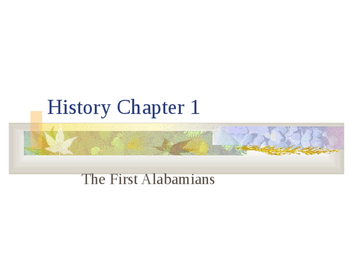 Alabama History Chapter 1 PPT