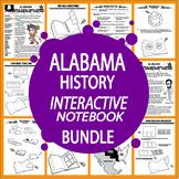 Alabama History State Study Interactive Notebook Unit + AUDIO