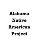 Alabama History Native American Project