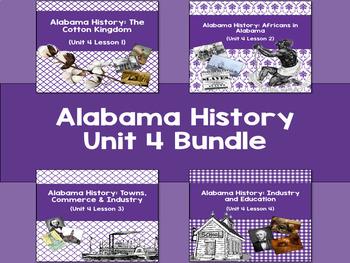 Alabama History Unit 4 Bundle