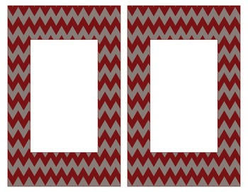 Alabama Inspired Maroon and Gray Alphabet/Number Cards for Word Walls-Editable