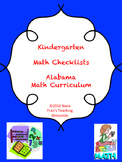Alabama Kindergarten Math Checklists