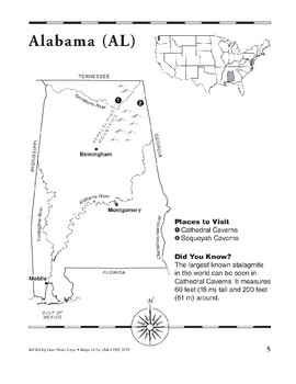 Alabama (Map & Facts)
