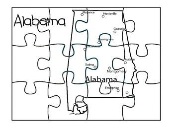 Alabama Map Puzzle