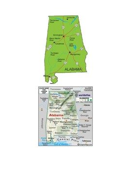 Alabama Map Scavenger Hunt