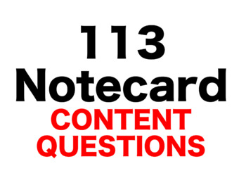 Alabama Moon 113 Content Questions Whiteboard Game