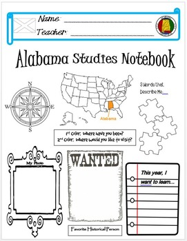 Alabama Notebook Cover