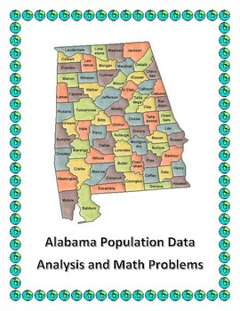 Alabama Data Analysis and Math Word Problems on the Population of Alabama