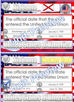 Alabama Question Cards (& Answers) & Word Search Alabama Official State Symbols