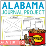 ALABAMA History Project, Differentiated State Research Journal {EDITABLE}