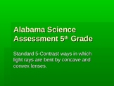 Alabama Science Assessment 5th Grade Standard 5 Convex Concave