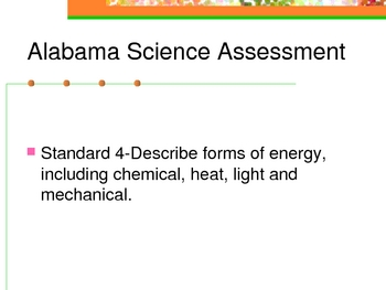 Alabama Science Assessment Grade 5 Standard 4