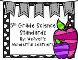 Alabama Science Course Of Study Standard Cards