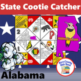 Alabama State Facts and Symbols Cootie Catcher Fortune Teller