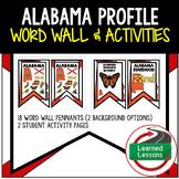 Alabama History Word Wall, State Profile, Alabama Activities