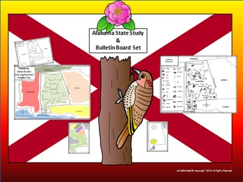Alabama State Study Notebook & Bulletin Board Set